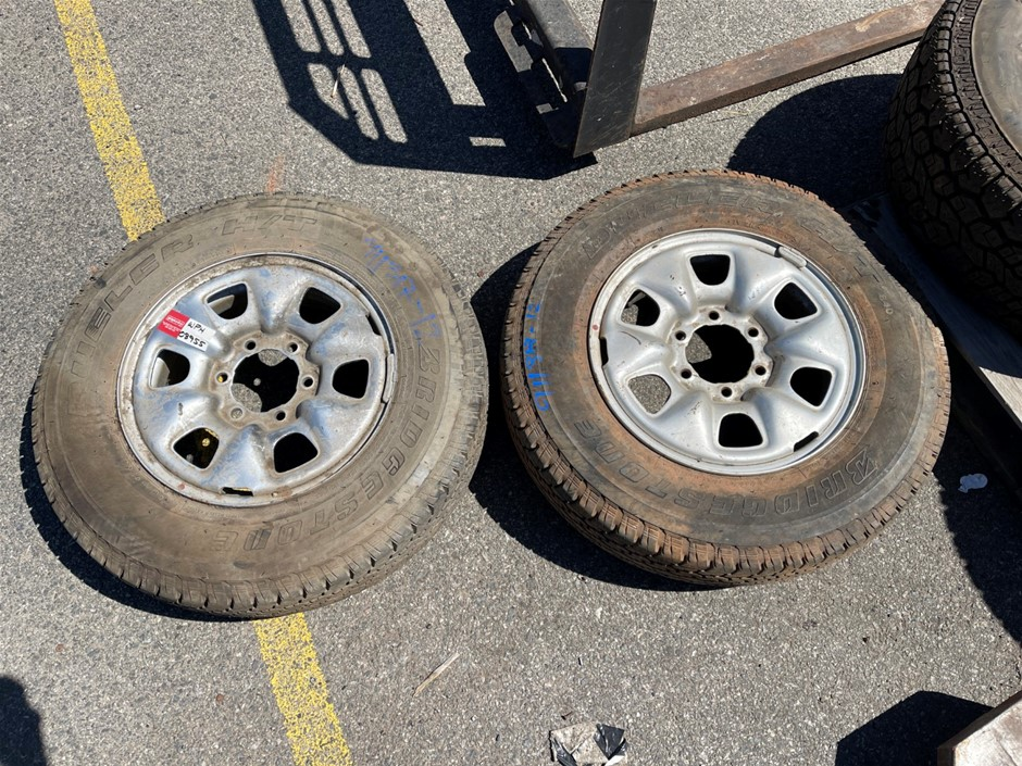 2x Toyota Hilux Tyres