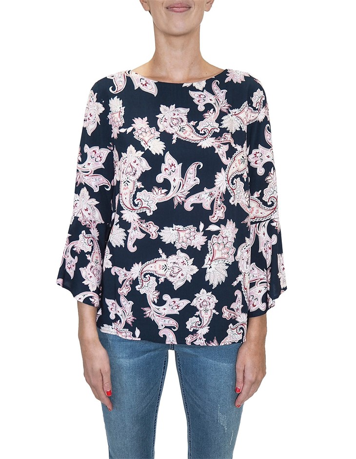 JUMP Paisley Top. Size 12, Colour: Multi. Buyers Note - Discount Freight Ra