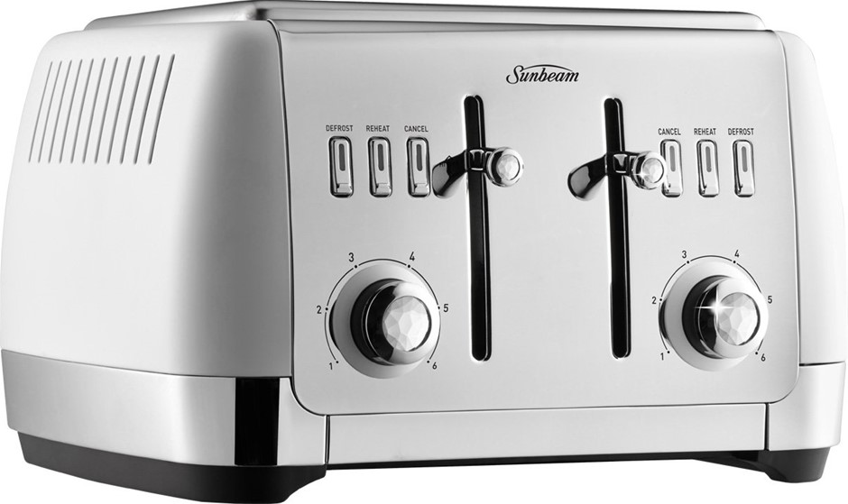 SUNBEAM London Collection 4 Slice Toaster TA2240W, N.B Unknown Condition. (