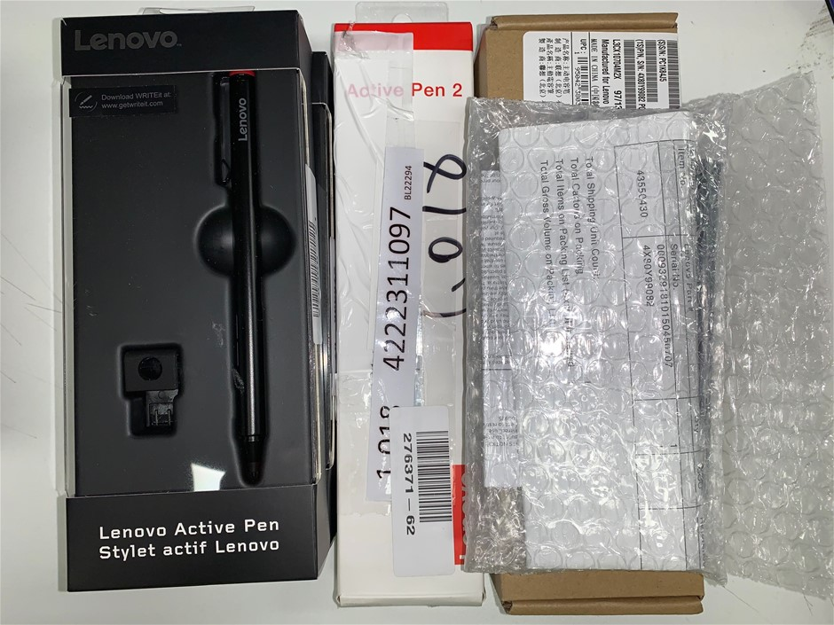 Box of USED/UNTESTED Lenovo Active Pen