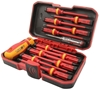 TOLSEN 13pc VDE Insulated Screwdriver Set, Comprising of: 4pc Slotted: 1.2x