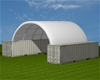2021 Unused Extra Heavy Duty 40ft Container shelter