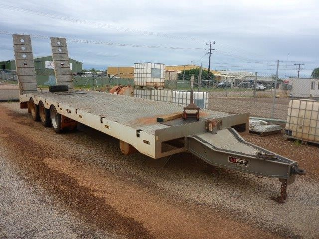 2014 Ultimate Plant Trailers UPT Triaxle Beavertail / Tag Trailer