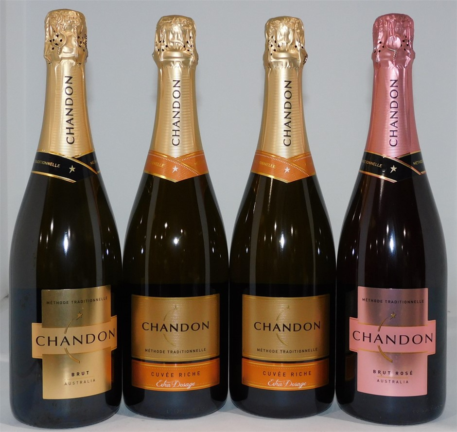 Pack of Assorted Chandon Sparkling Wine (4 x 750mL)