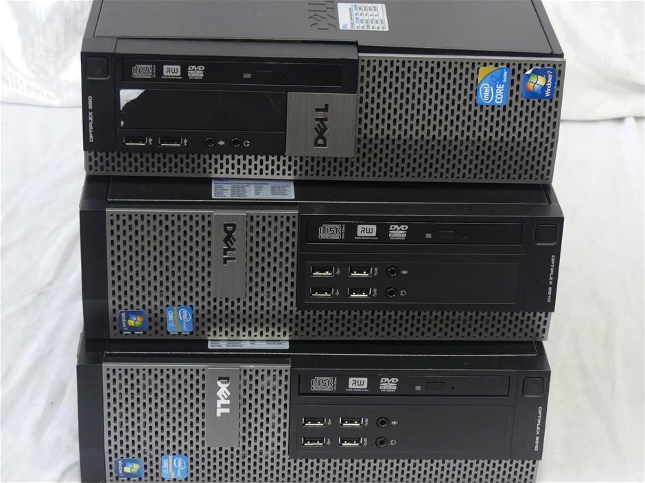 Box of 6x Dell Small Form Factor Desktop PCs