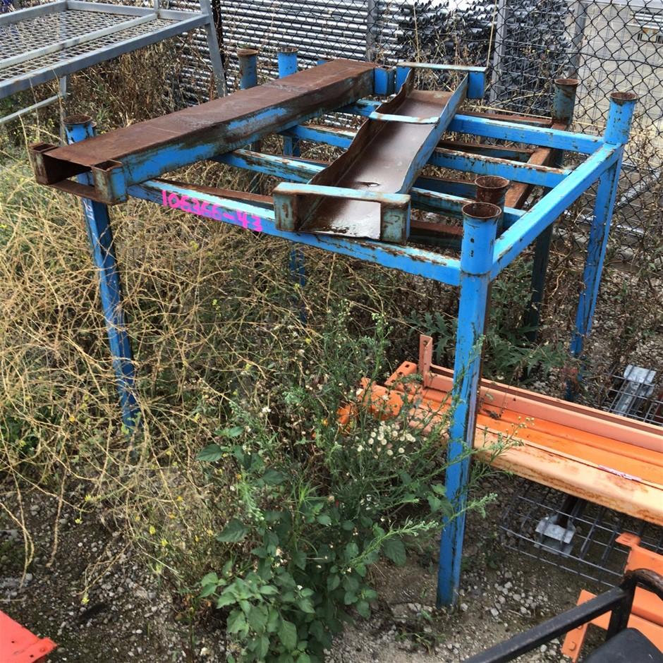 2x Blue Metal Stillages and Forklift Tine Slots (Unwelded)