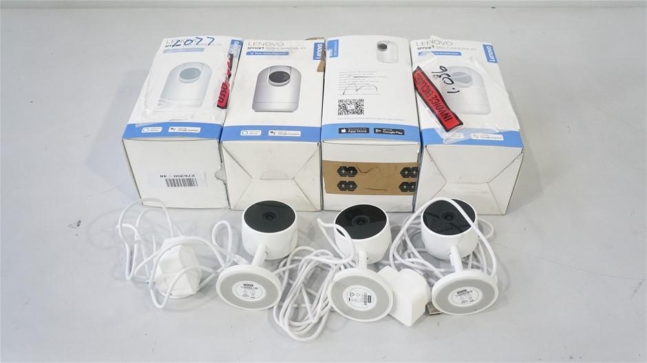 Box of USED/UNTESTED Lenovo SMART Security Camera, White