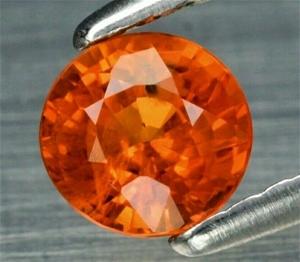 0.57ct Round Orange Sapphire Tanzania