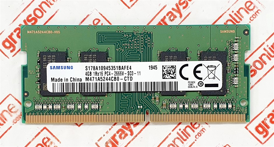 Samsung 4GB DDR4 PC4-2666V Sodimm 260pin Laptop Memory Module