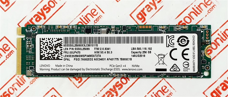 Lenovo 256GB M.2 NVMe PCIe Gen 3x4 Solid State Drive