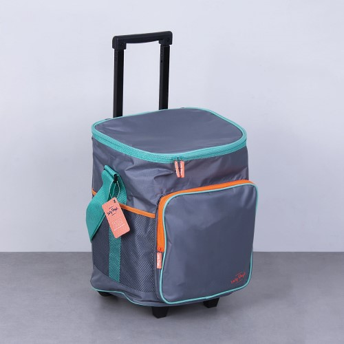 25L Insulated Jumbo Trolley Cooler with Extendable handle
