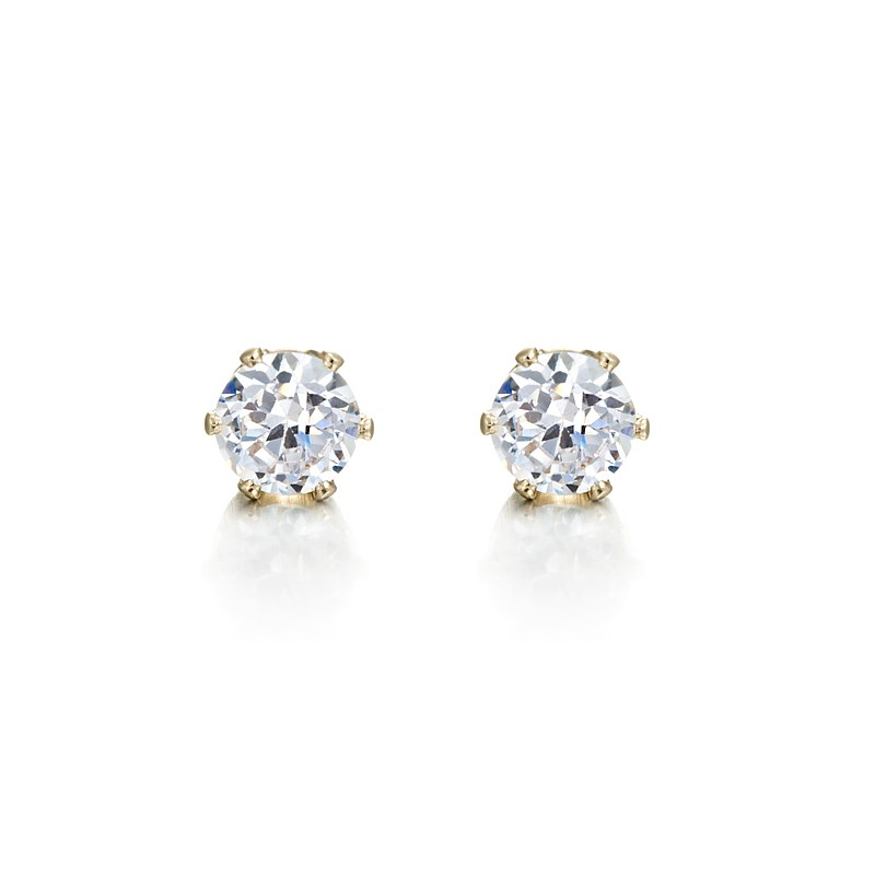 18ct Yellow Gold Layered Stud Earring