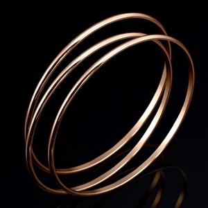 18ct Rose Gold Layered Triple Bangle Set