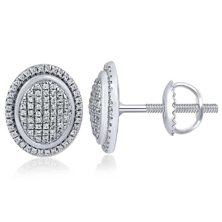 9ct Wihte Gold, 0.24ct Diamond Earring