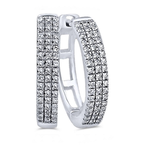 9ct White Gold, 0.14ct Diamond Earring