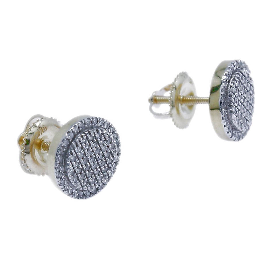 9ct Yellow Gold, 0.17ct Diamond Earring