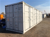 Unreserved Unused 40ft High Cube Side Opening Container