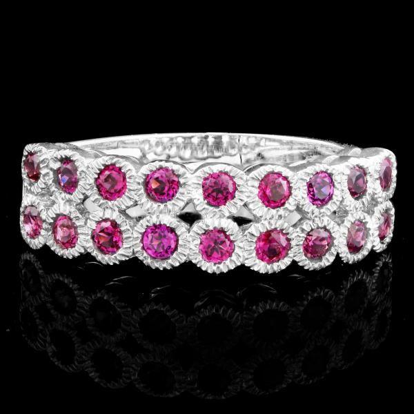 Stunning Sterling Silver Garnet Ring
