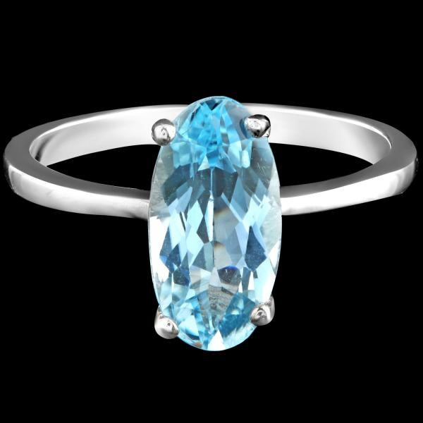 Gorgeous Sterling Silver Blue Topaz Ring