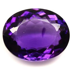 28.08ct. Oval Facet Purple Amethyst