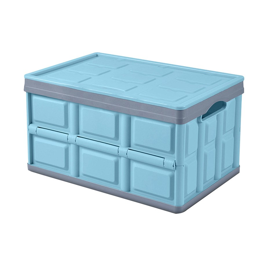 SOGA 56L Collapsible Car Trunk Storage Box Blue