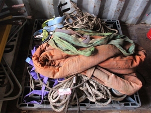 Pallet containing Poly Rope Fabric Sling