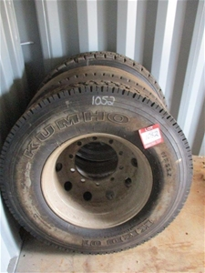 Qty 3 x Truck Tyres and Rims