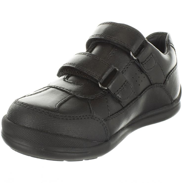SUREFIT Boy`s Billy School Shoes, Size UK 3 / US 4, Black Leather. (SN:CC71