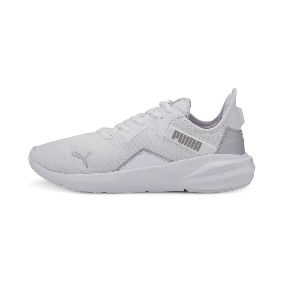 PUMA Women`s Platinum Training Shoes, Size UK 4.5, White Metallic Silver. (