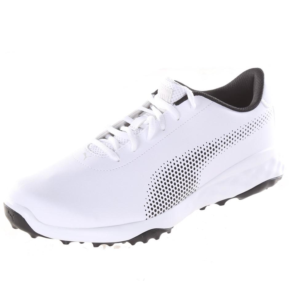 PUMA Men`s Grip Fusion Tech Men`s Golf Shoes, UK Size 10, White. (SN:CC5103