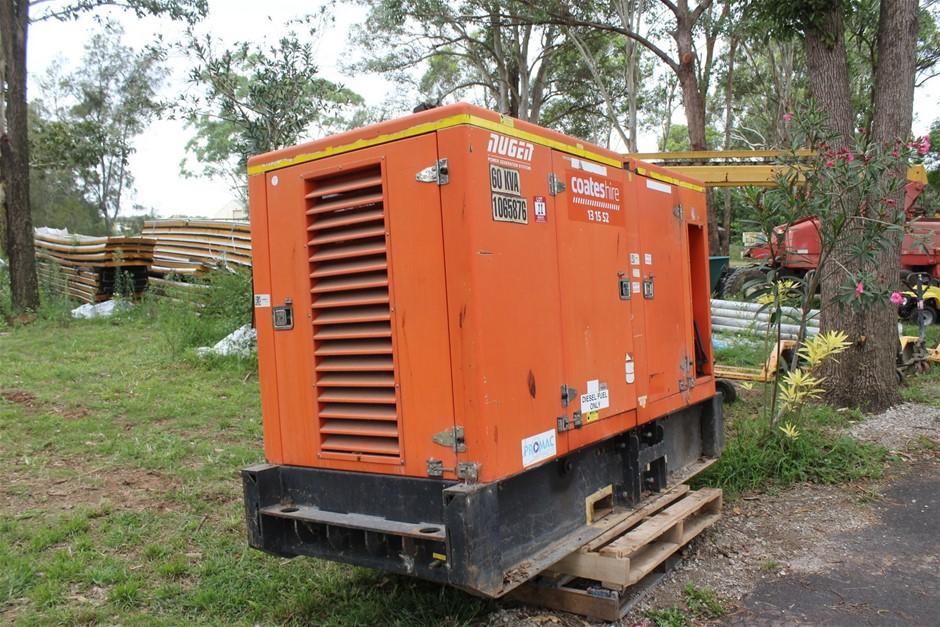 2011 Nugen S60PS 60KVA Skid Mounted Diesel Generator