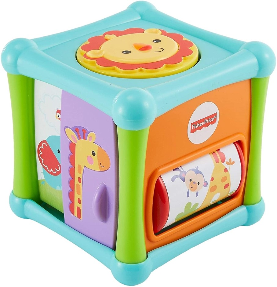 FISHER-PRICE Growing Baby Animal Activity Cube. (SN:B00IG3CJIE) (279351-604