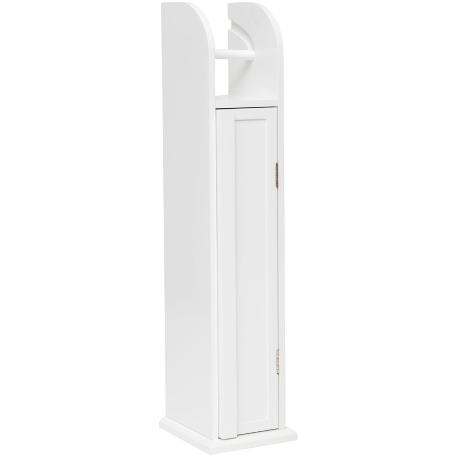 Classic Toilet Roll Holder Storage Cabinet - White