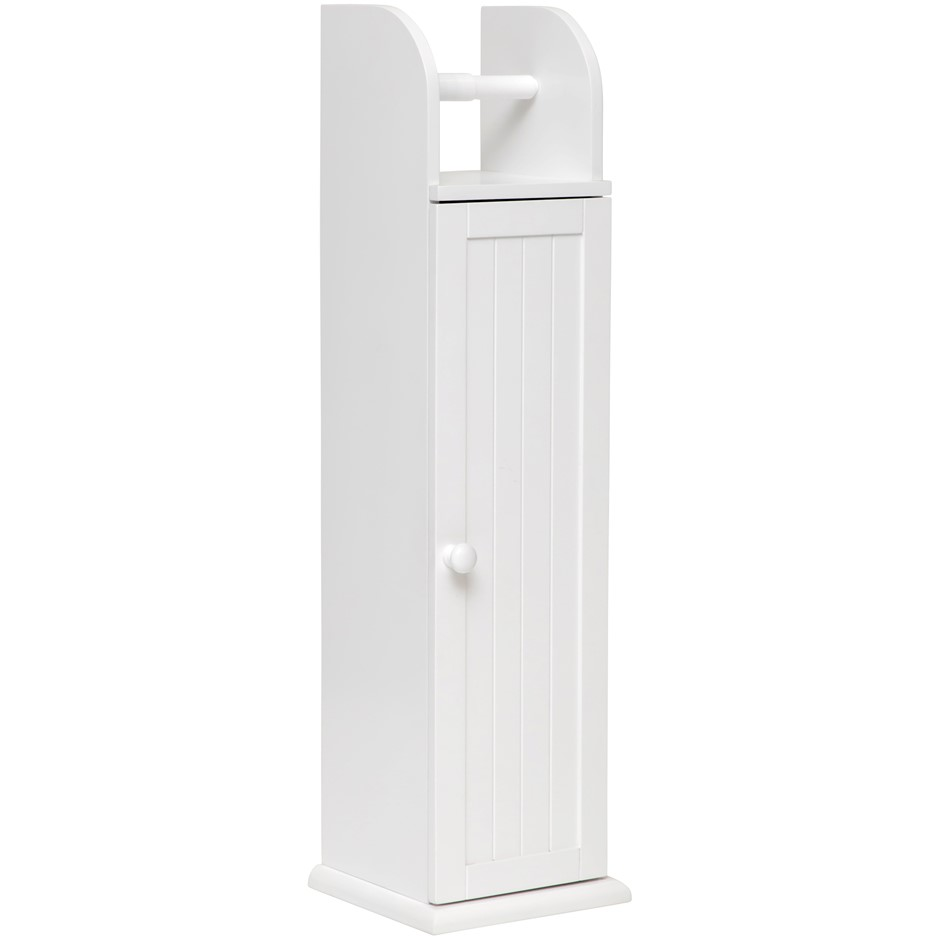 Maine Toilet Roll Holder Storage Cabinet - White