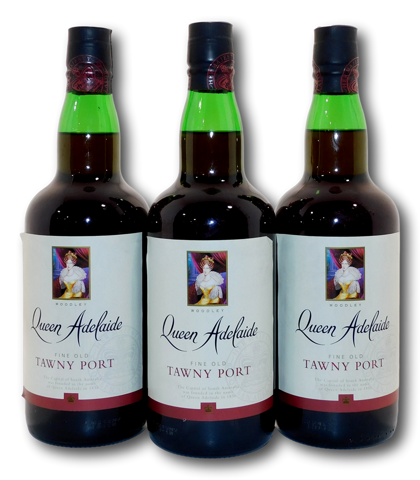Woodley Queen Adelaide Fine Old Tawny Port NV (3x 750mL)