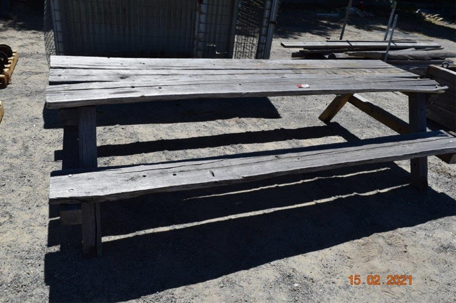 Rustic Outdoor Bench Seat / Table