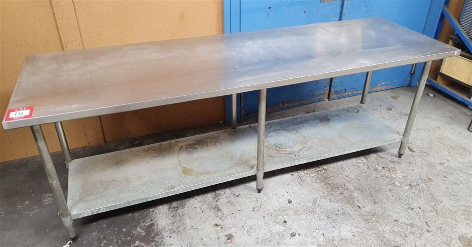 Stainless Steel work bench - 2440Wx770Dx900H
