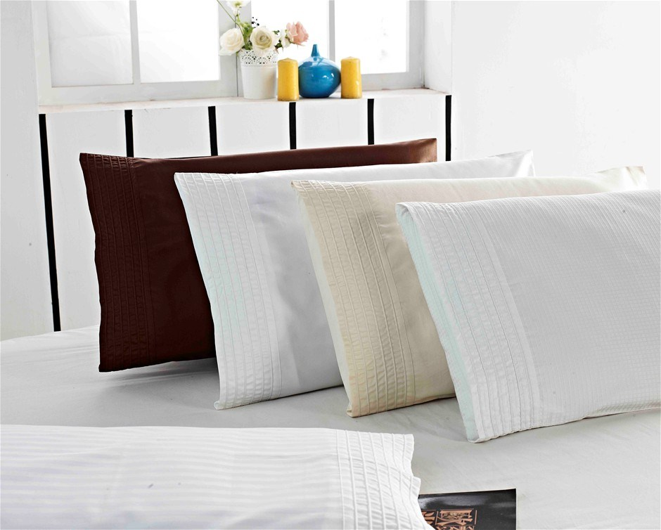 1200 TC Pillow Cases Chocolate x 2