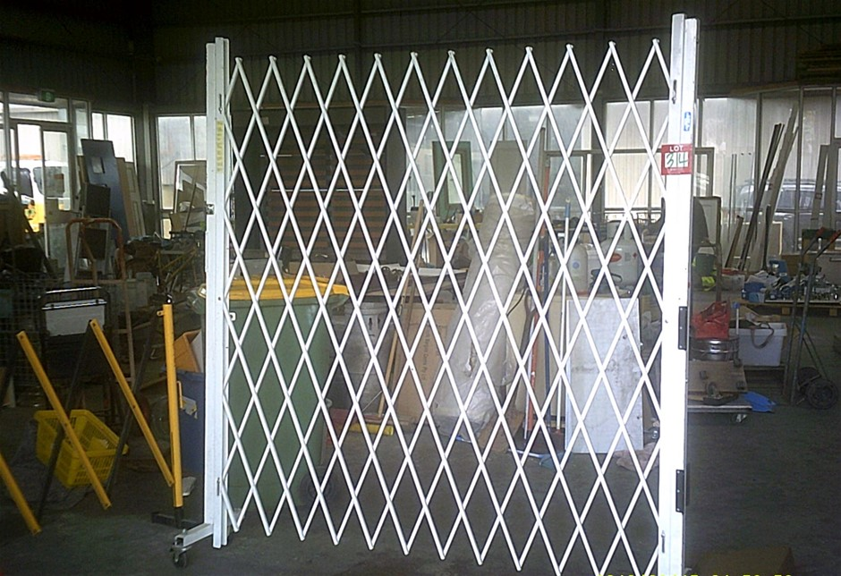 Large Wall Mounted Steel Expansion Gate.