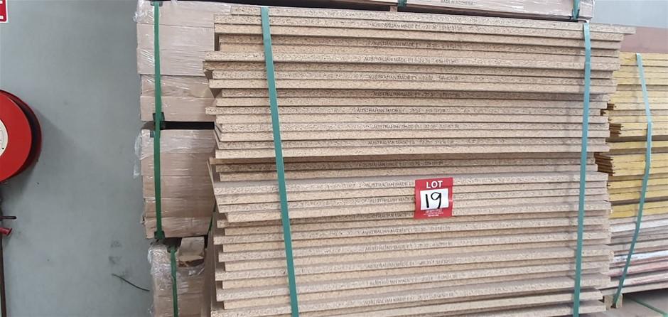 Flooring Particleboard : 1000 x 1000 x 19mm . Total = 48pcs