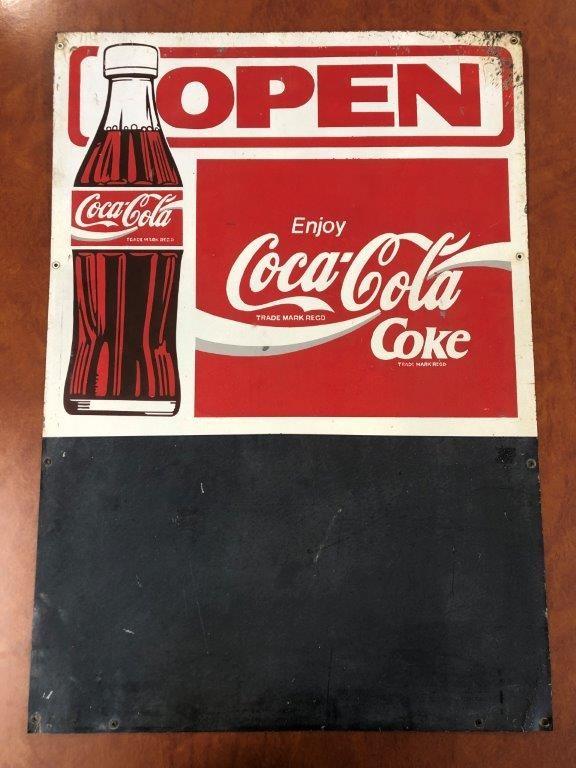 Authentic COCA COLA Advertising Blackboard Sign