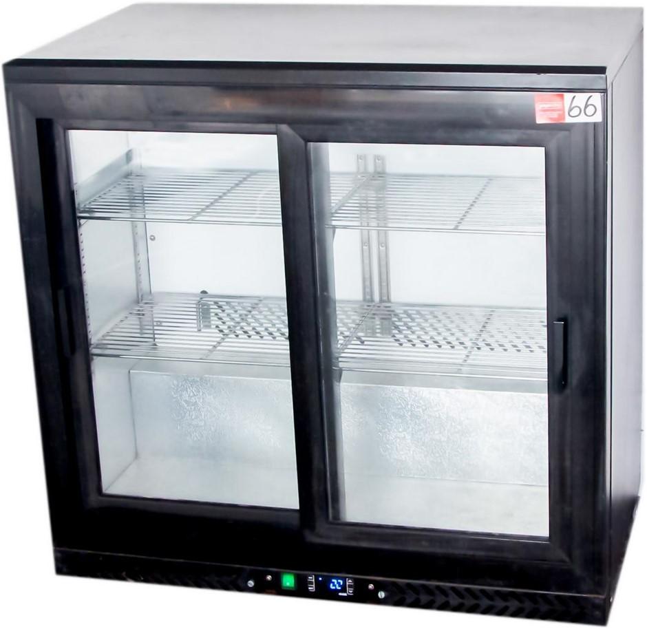 FED 2 DOOR GLASS BENCH DISPLAY REFRIGERATOR