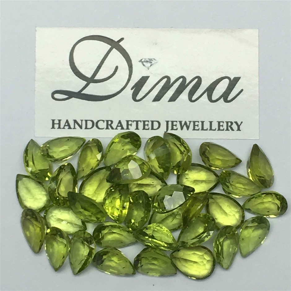 Thirty Five Loose Peridot, 40.21ct in Total