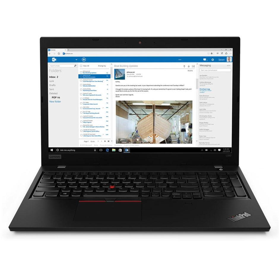 Lenovo ThinkPad L590 15.6-inch Notebook, Black