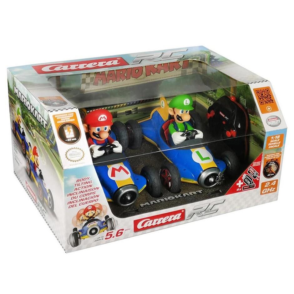 CARRERA Mario Kart & Luigi Remote Control Cars - 2 pack. N.B Condition unkn