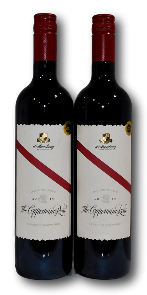 d'Arenberg The Coppermine Road Cabernet Sauvignon 2014 (2x 750mL), SA