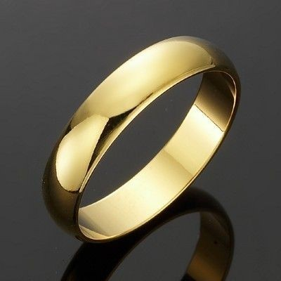 18ct Yellow Gold Layered Men's Band Ring - US Size 12