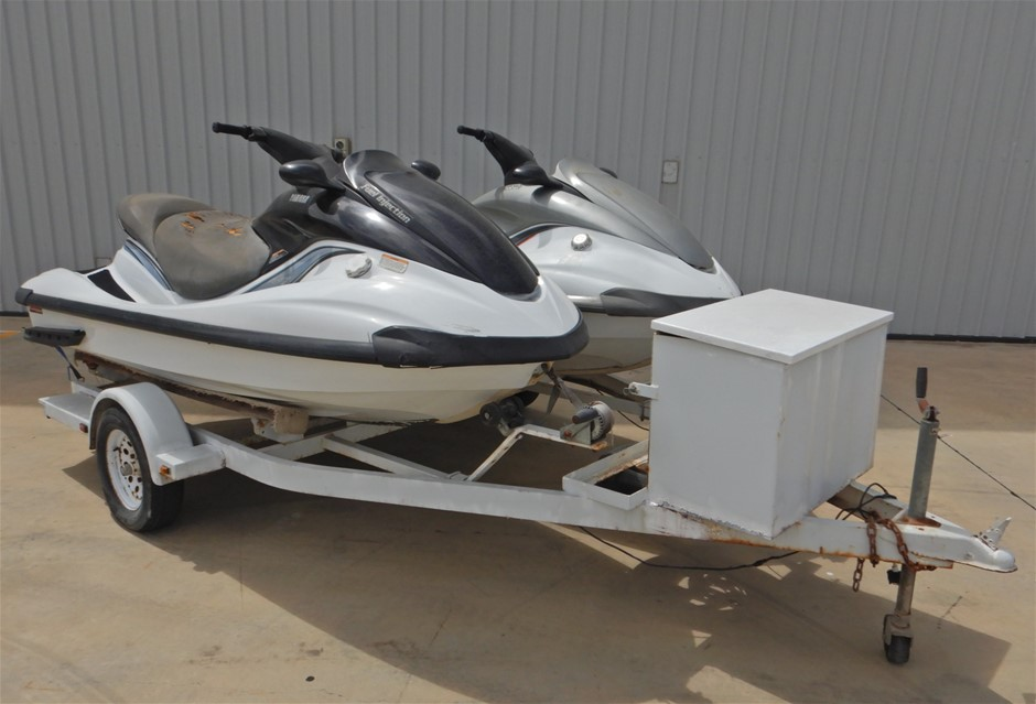 2 x Yamaha FX140 Jet Skis with Tandem Trailer