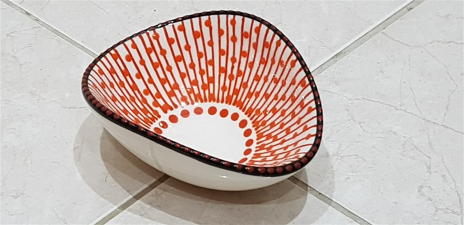 Wave Painted Bowl