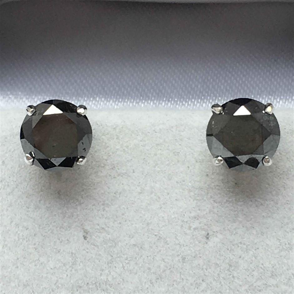 9ct White Gold, 5.20ct Diamond Earring